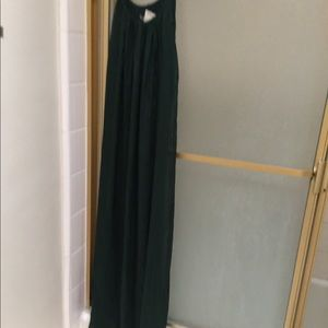Made in Italy green silk dress Melo meli one size